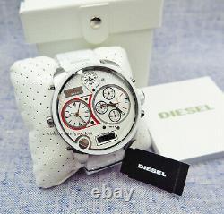 Diesel Men's Watch DZ7277 Mr. Daddy White Silicone Cover Chronograph
