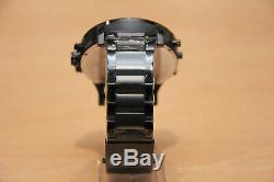 Diesel Mr Big Daddy Dz7312 57mm Black Rose Gold Stainless Steel Mens Watch