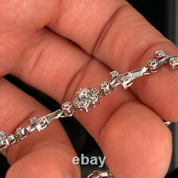 EFFY 14K White Gold Floral Diamond Bracelet 1.00Ct Tw New $3999