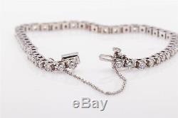 Estate $10,000 5ct Diamond 14k White Gold Tennis Bracelet