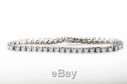 Estate $20,000 8ct VS F G Diamond 14k White Gold Tennis Bracelet NICE