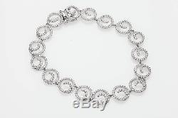 Estate $8000 3ct VS F Diamond CIRCLE 18k White Gold Bracelet DESIGNER