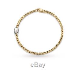 FOPE 18 ct YELLOW & WHITE GOLD Eka Bracelet Brand New in Box with Tags