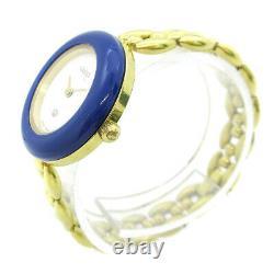 GUCCI 11/12 Change Bezel Quartz Ladies Wristwatch Watch Bracelet AK38389b