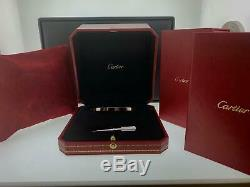 Genuine Cartier Love Bracelet 18k White Gold Size 17 Ref B6047417 New Style B+P