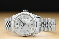 Genuine Rolex Mens Datejust 18k White Gold & Stainless Steel Watch + Rolex Band