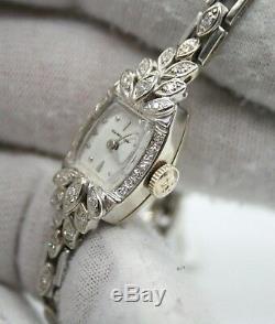 Hamilton 14k White Gold Estate Vintage Diamond Watch 14k Gold Diamond Bracelet