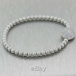 Hans Kreiger 18K White Gold 2.50ctw Diamond Bracelet