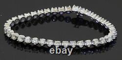 Heavy 14K white gold high fashion 5.18CT VS diamond tennis line bracelet