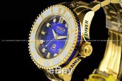 INVICTA Men 47mm Grand Diver Gen 2 Auto Gold/Blue Dial White Bezel 300M SS Watch