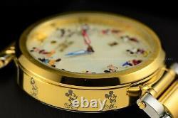 Invicta 45mm Disney Limited Ed 90th Anniversary Gold Tone Mickey MOP TT Watch