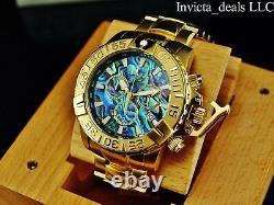 Invicta 47MM Subaqua Noma II LE Swiss Chronograph Blue Abalone Dial GP SS Watch