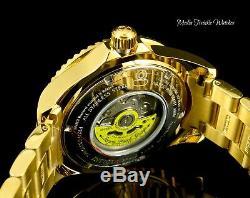 Invicta 47mm Grand Diver Automatic 0.75ctw Diamond White MOP Gold Bracelet Watch