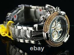 Invicta 56mm Subaqua Poseidon AGE of EMPIRE Swiss 18K Gold Plated Ring MOP Watch