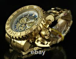Invicta 70mm Sea Hunter Swiss Movt Chronograph ABALONE DIAL 18K Gold IP Watch