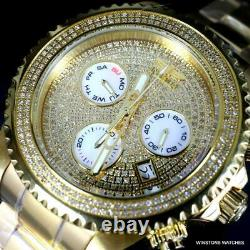 Invicta Grand Diver 1.94CTW Diamond Chronograph Gold Plated Steel Watch 47mm New