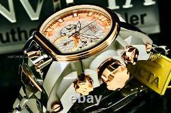 Invicta Men 52mm BOLT ZEUS MAGNUM White Textured Dial Rose Gold Silver SS Watch
