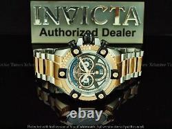 Invicta Men 63mm Grand Arsenal Swiss Movement Chronograph Rose Gold TT SS Watch