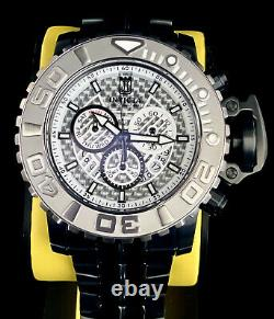 Invicta Mens SEA HUNTER SWISS Chronograph LE Black White Dial JASON TAYLOR Watch
