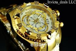 Invicta Reserve 52mm Excursion Touring Swiss ETA Chrono MOP Dial Gold Tone Watch
