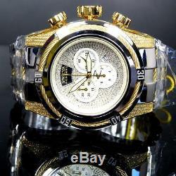Invicta Reserve Bolt Zeus 1.95 CTW Diamonds High Polish Gold 2 Tone Watch New