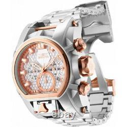 Invicta Reserve Mens Bolt Zeus Magnum 52MM Rose-Gold Chrono SS Bracelet Watch