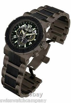 Invicta Reserve OR Stealth Swiss Made Master Calendar Chrono Gunmetal SS Watch