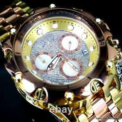 Invicta Reserve Venom Hybrid Diamond Pave Rose Gold Steel Swiss 52mm Watch New