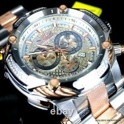Invicta Shaq Bolt Rose Gold Two Tone Steel. 74CTW Diamond Swiss Watch 60mm New