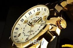 Invicta Signature 44MM Automatic White Dial 23k Gold Plated 2-Tone Bracelet Watc