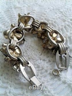 JULIANA D&E Pastel Pink Blue White Givre Gold Plated Bracelet MEGA RARE