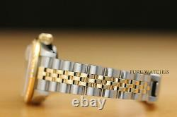 LADIES ROLEX CHAMPAGNE DIAMOND DATEJUST 18K YELLOW GOLD/SS WATCH withROLEX PAPER