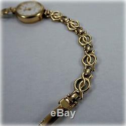 Ladies 9ct gold Accurist Bracelet Watch
