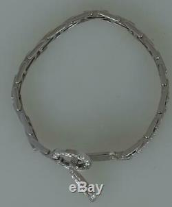 Ladies Designer 18K White Gold 2.86ct Diamond Line Tennis Bracelet RRP 5150 Euro