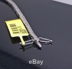 Ladies Diamond Tennis Bracelet White Gold Finish With Real Diamonds 7 inch