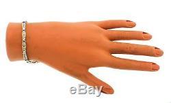 Ladies Estate 10K Yellow White Gold 0.98ctw Diamond Baguette Tennis Bracelet