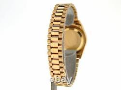 Ladies Rolex 18K Yellow Gold Datejust President Watch FACTORY Diamond Dial 69178