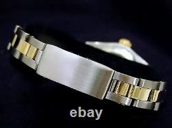 Ladies Rolex 2Tone Gold Stainless Steel Oyster Perpetual Watch White Dial 67193