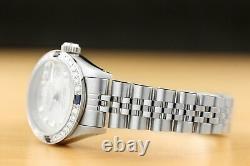 Ladies Rolex Datejust 18k Gold Diamond Sapphire & Stainless Steel Quickset Watch
