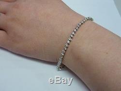 Ladies Stunning 18ct White Gold 2ct Diamond Set 7 Tennis Style Bracelet
