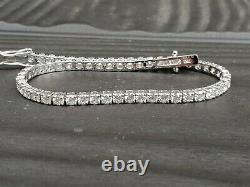 Last Pc Deal Price 3.05 Ct F/SI Natural Round Diamond Tennis Bracelet White Gold