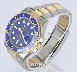 MINT Rolex Submariner Blue Ceramic 116613 LB Two-Tone 18K Gold Stainless Dive