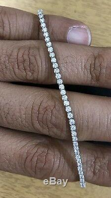 Magnificent 2ct 18k White Gold H / Si Diamond Tennis Bracelet