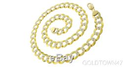 Men's Bracelet In 14k Gold 8.5 Yellow+White Pave Curb with Lobster Clasp