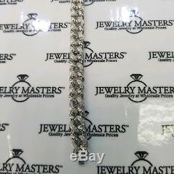 Men's Real Diamond Miami Cuban Link Bracelet 1 CT 9mm 10k White Solid Gold 8