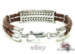 Mens Diamond Bracelet Round Cut G Color VS1 10k White Gold 3.40ct