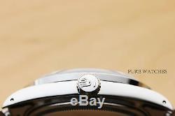 Mens Rolex Blue Diamond Dial Datejust 18k White Gold & Steel Watch