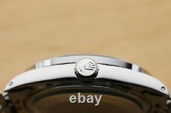 Mens Rolex Datejust 16014 Black Diamond Sapphire 18k White Gold & Steel Watch