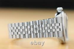 Mens Rolex Datejust 16014 Blue Roman 18k White Gold & Stainless Steel Watch