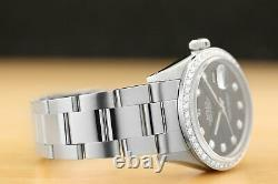 Mens Rolex Datejust 18k White Gold Diamond Bezel & Steel Quickset Watch